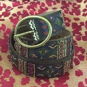 NWT Lucky Brand Beaded & Embroidered Belt